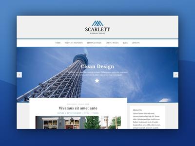 J51 Scarlett - A Joomla Template