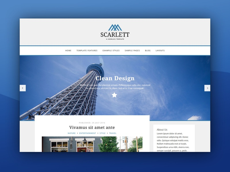 J51 Scarlett - A Joomla Template theme blog design blog theme design web design template design joomla designs webdesign joomla templates joomla template joomla