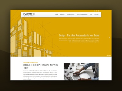 J51 Carmen - A Joomla Tempalte design templates theme theme design web design 3d plans architecture webdesign joomla templates joomla template joomla