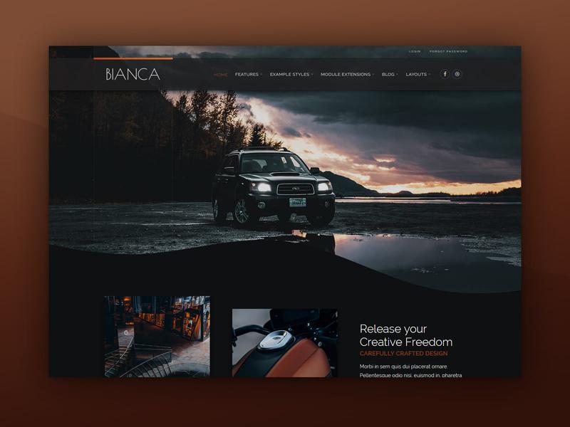 J51 Bianca - A Joomla Template [New Release] adventure outdoors car theme design theme template design webdesign web design joomla templates joomla template joomla