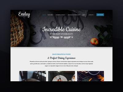 J51 Ensley - A Joomla Template [New Release] bar dining wine food menu restaurant template joomla designs theme web design webdesign joomla templates joomla template joomla