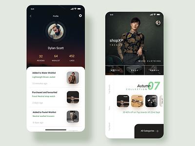 shopXP : E-Commerce App : UI Design shop ecommerce user experience app design app ux ui  ux ui design