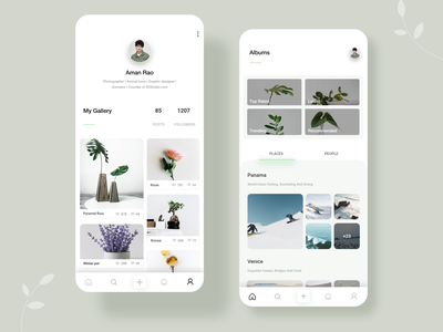 Gallery : Photo sharing app home page profile home minimalistic photo typography user interface ui design ui inspiration user experience photography gallery application minimal app design app ux ui  ux ui design