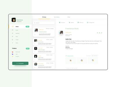 E Mail Dashboard Design dashboard ui design dashboard ui dashboard design dashboard email design email user interface user experience minimal website design website web ux ui ui  ux design