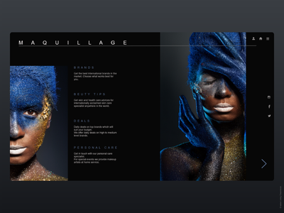 Cosmetic website minimal website branding website design ux ui design web ui  ux