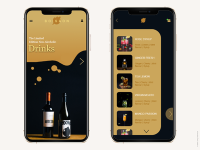 Drink App app design ux ui  ux ui