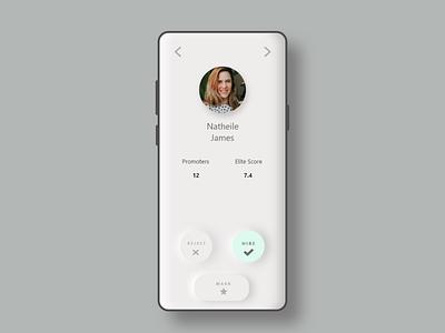 Recruiters App Design minimal ux ui ui  ux design