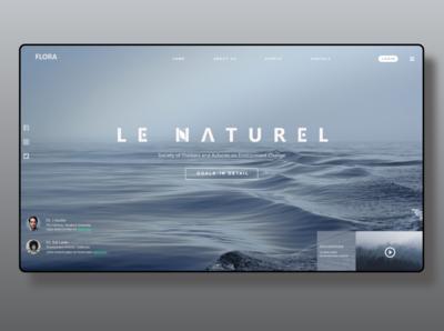 """FLORA"" WebSite HomePage Design"