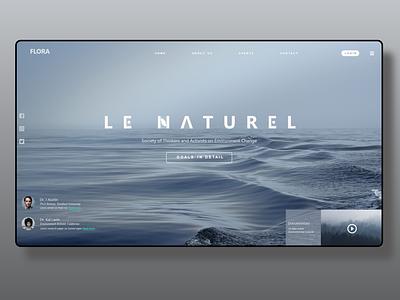 """FLORA"" WebSite HomePage Design website minimal web website design ux ui  ux ui design"