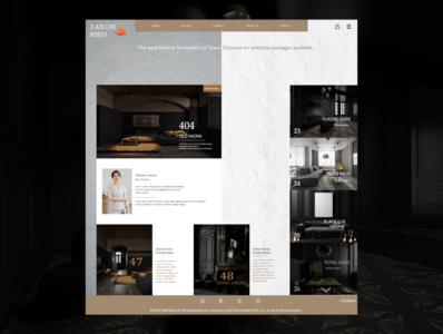 """Tailor Bird"" - Interior Decorator website design"