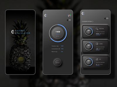 Calorie Calculator App design app ux ui  ux ui design