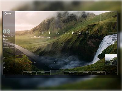 """FUEL.EXP"" Website Design nature website design website web ux ui  ux ui design"