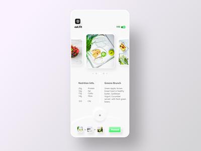 eat.fit UI redesign app ux ui ui  ux design