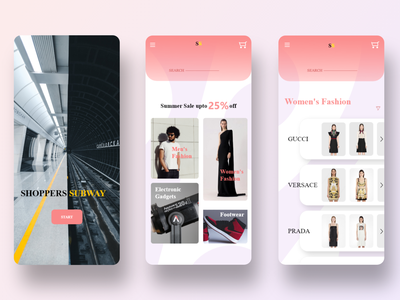 Shoppers Subway | Online Shopping App UI Design application app design uidesigner uidesing uidesign webdesign app ux ui  ux ui design