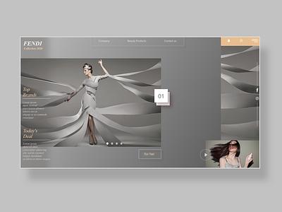 FENDI  website User Interface design webdesigner website design website web ux ui  ux ui design