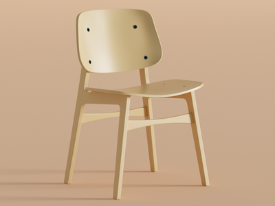 Søborg furniture chair render 3d blender