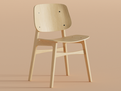 Søborg chair (part 2) render interiordesign furniture 3dart chair blender