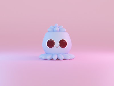 little octopus blender3d digital3d digitalart 3dart render blender octopus