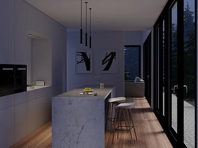 My first interior work 3d artist modeling furniture textures design interiordesigner interior architecture digitalart digital3d rendering render 3dart kitchen interiordesign blender 3d
