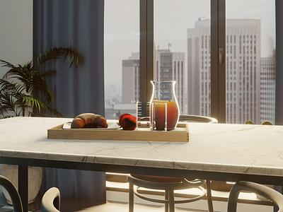Dining room design 3d artist rendering digitalart interiordesign digital3d modeling furniture 3d 3dart blender