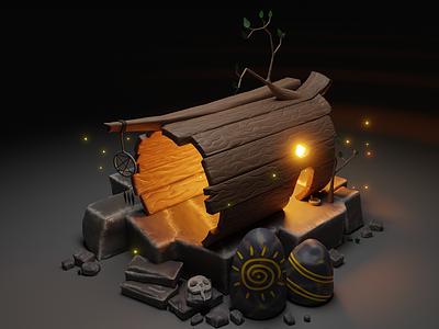 Shaman house:) 3dartist designer 3d rendering 3dart blender digitalart