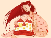 Digital illustration about autumn.