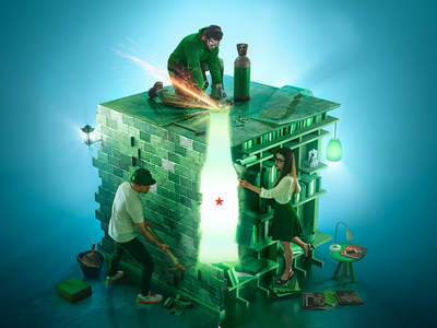 Heineken - open your world contest cgi contest heineken integration lighting cg 3d beer