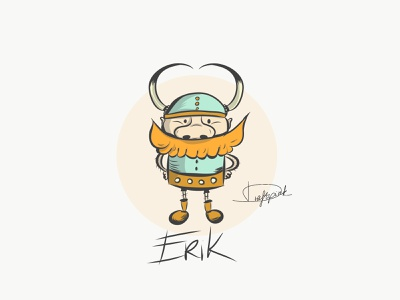 Erik the viking norway funny illustration funny character cartoon scandinavian mithology illustratordraw character vikings draftpink warrior valhalla erik viking vector illustration