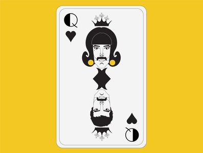 Playing Card / Queen-Dribbble Weekly Warm-Up