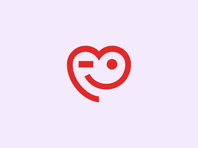 Heart logomark smile gift-voucher heart animation vector symbol logomark logo