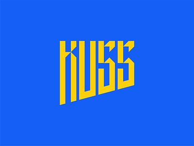 KUSS visual identity branding union student logo logotype custom type typography