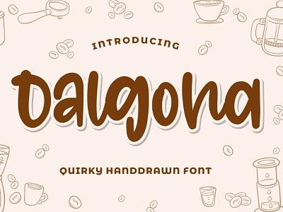 Dalgona - Quirky Font vector branding logo design typography quirky