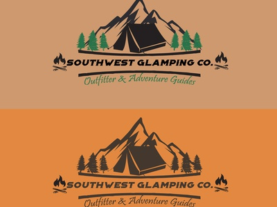 Camp Store logo design