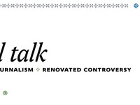"Yale Daily News Magazine redesign prototype, ""Small Talk"""