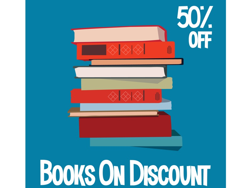 Books sell Vector illustration for poster, banner, advertising. designer study ebook discount book sell book store 2020 abstract vector brand freelogo concept illustration design free download designersvalley