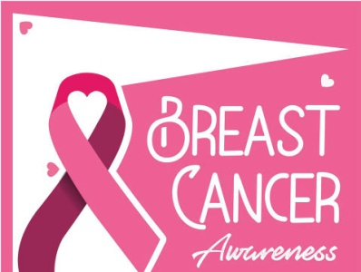 Breast cancer awareness campaign vector poster