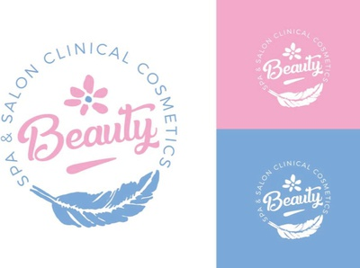 Beauty and fashion vector logo and spa salon lady