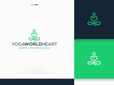 Yoga World Heart nature logo fitness logo yoga yoga logo logo creator logo-maker design logo professional logo unique custom-logo logo-creator custom logo versatile graphics design