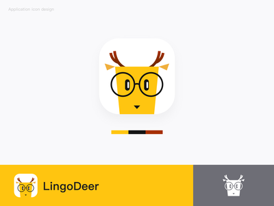 LingoDeer app icon design icon logo app illustration