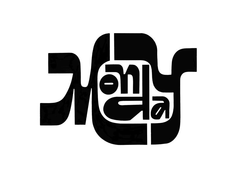 Monday logo design typedesign typography art typography type procreate ipad lettering lettering practice lettering