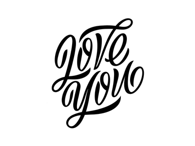 Love you lettering artist type typography calligraphy lettering
