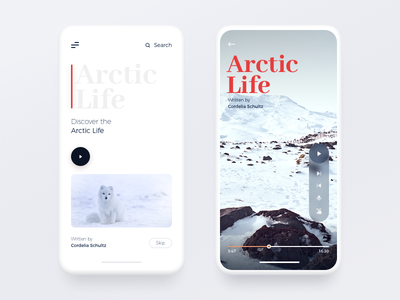 Adventure App blur ios app ui ux architecture minimal navigation mobile menu flat clean card app