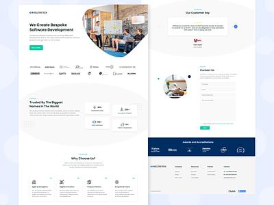Kellton landing page software development technology ui ux landing page landing website webdesign design