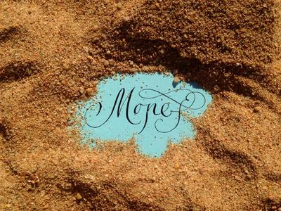 """Calligraphy """"Sea"""" / Каліграфія """"Море"""""""