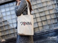 "Handwritten Eco Bag Designs ""Love Every Day"""