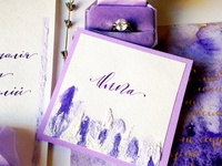wedding calligraphy card