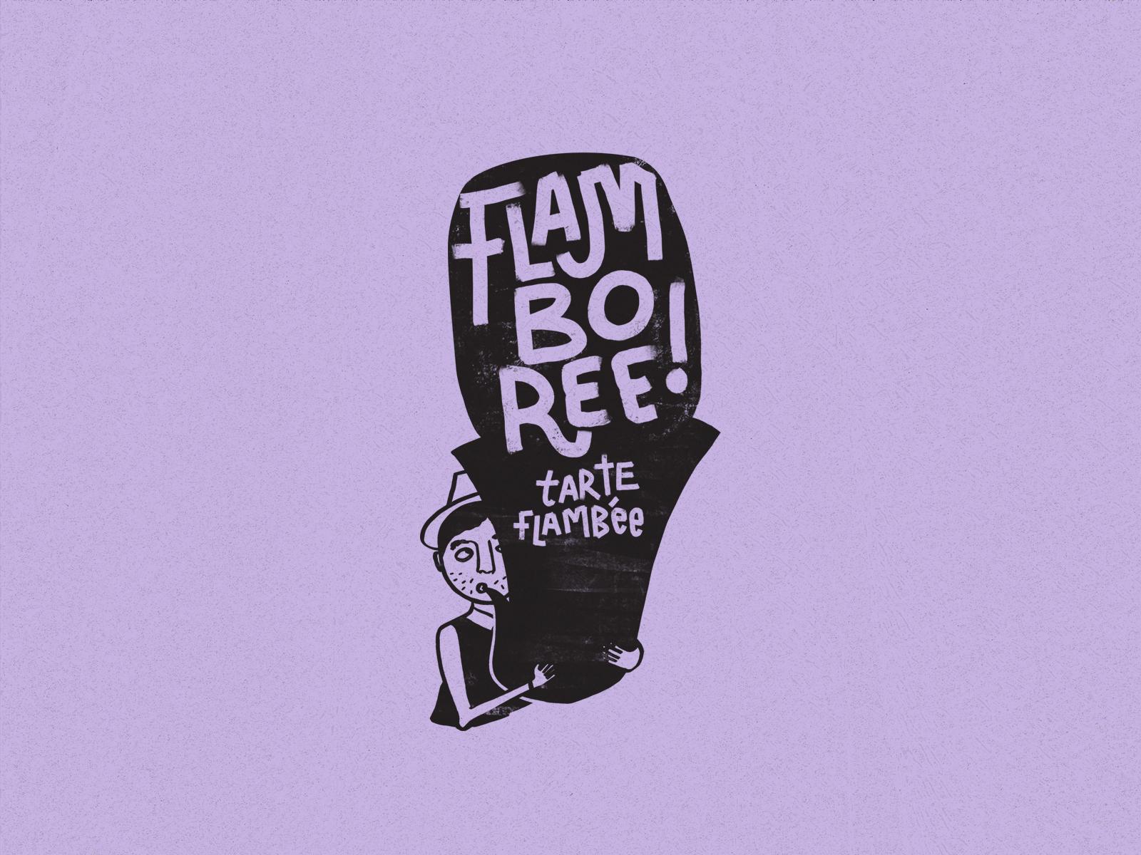 Saint dribble flamboree illustrations logo
