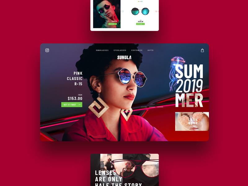 Sunglasses for everyone! creative design creativity concept website site design site web design branding illustration