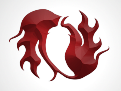 Fire Logo Revisited spicy hot chilipepper logo fire