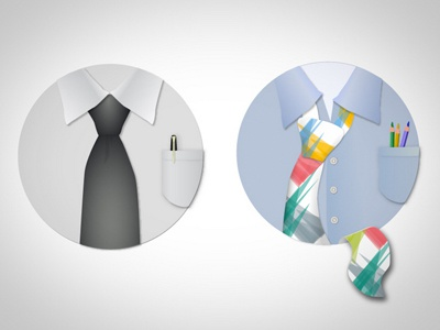 Creative Professional icons logos ties circle suit shirt illustrator photoshop